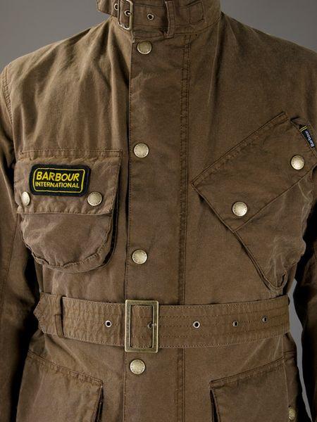 barbour belt jacket in brown for men lyst