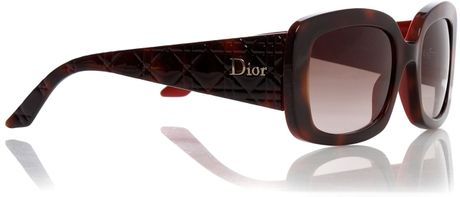 a2f912f0b4e CHRISTIAN DIOR Cannage Dior Lady Lady 1 Sunglasses Black Red 188072. Dior  Ladies Ladylady2 Sunglasses in Red