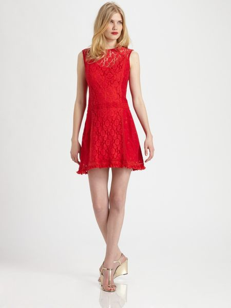 Nanette Lepore Sunset Boulevard Shift Dress in Red