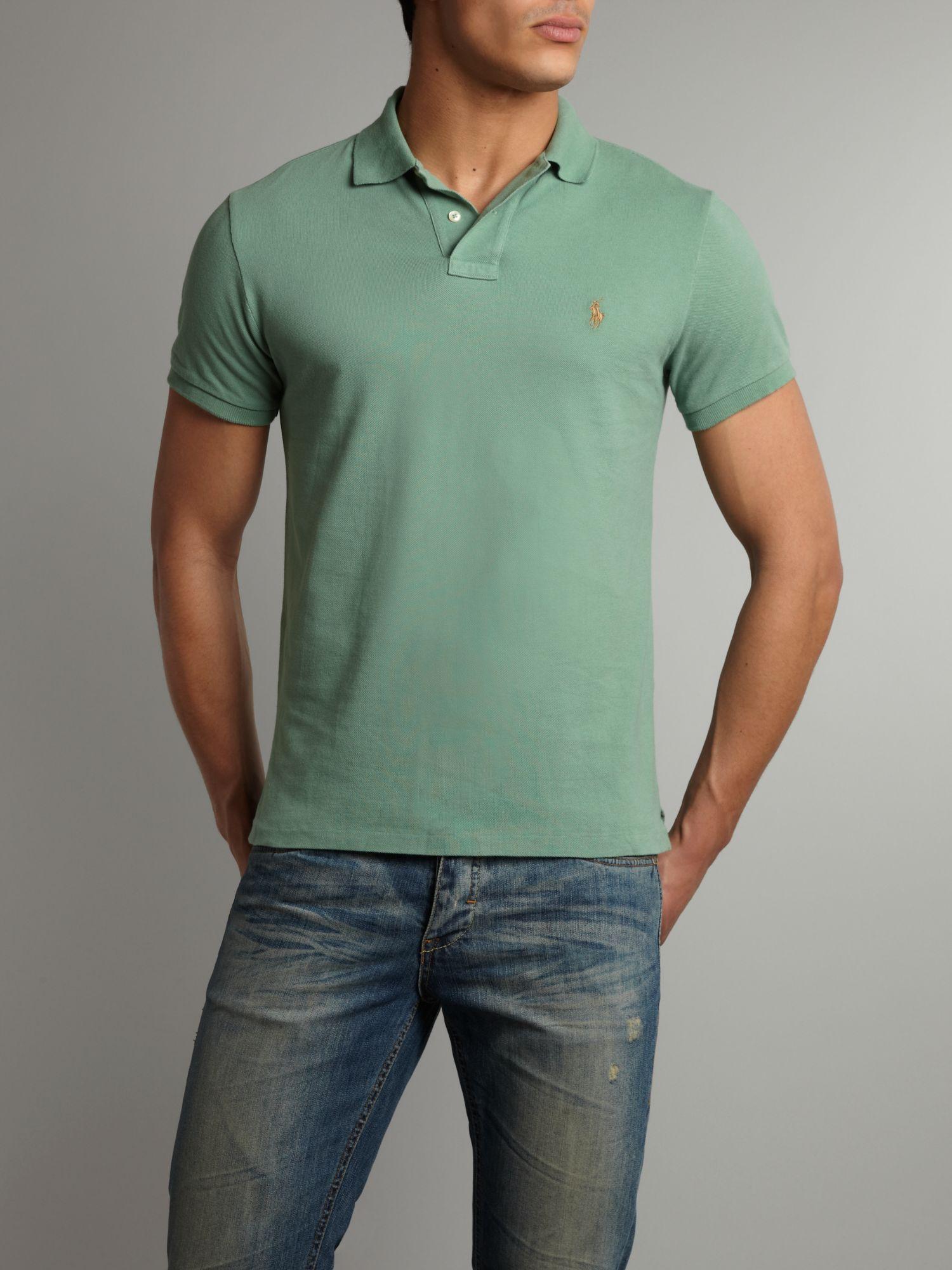 Ralph Lauren Men Custom-Fit Mesh Polo Green