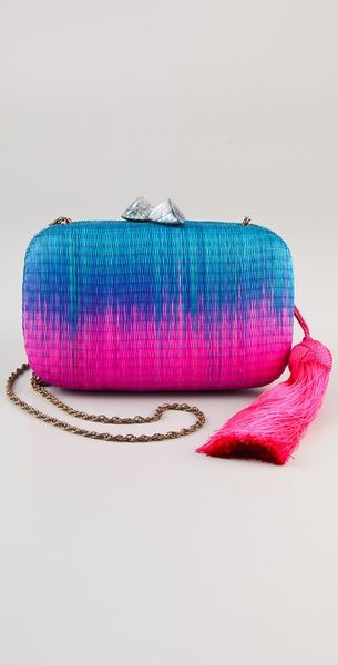 Serpui Marie Marrakesh Minaudiere in Blue (rose) - Lyst