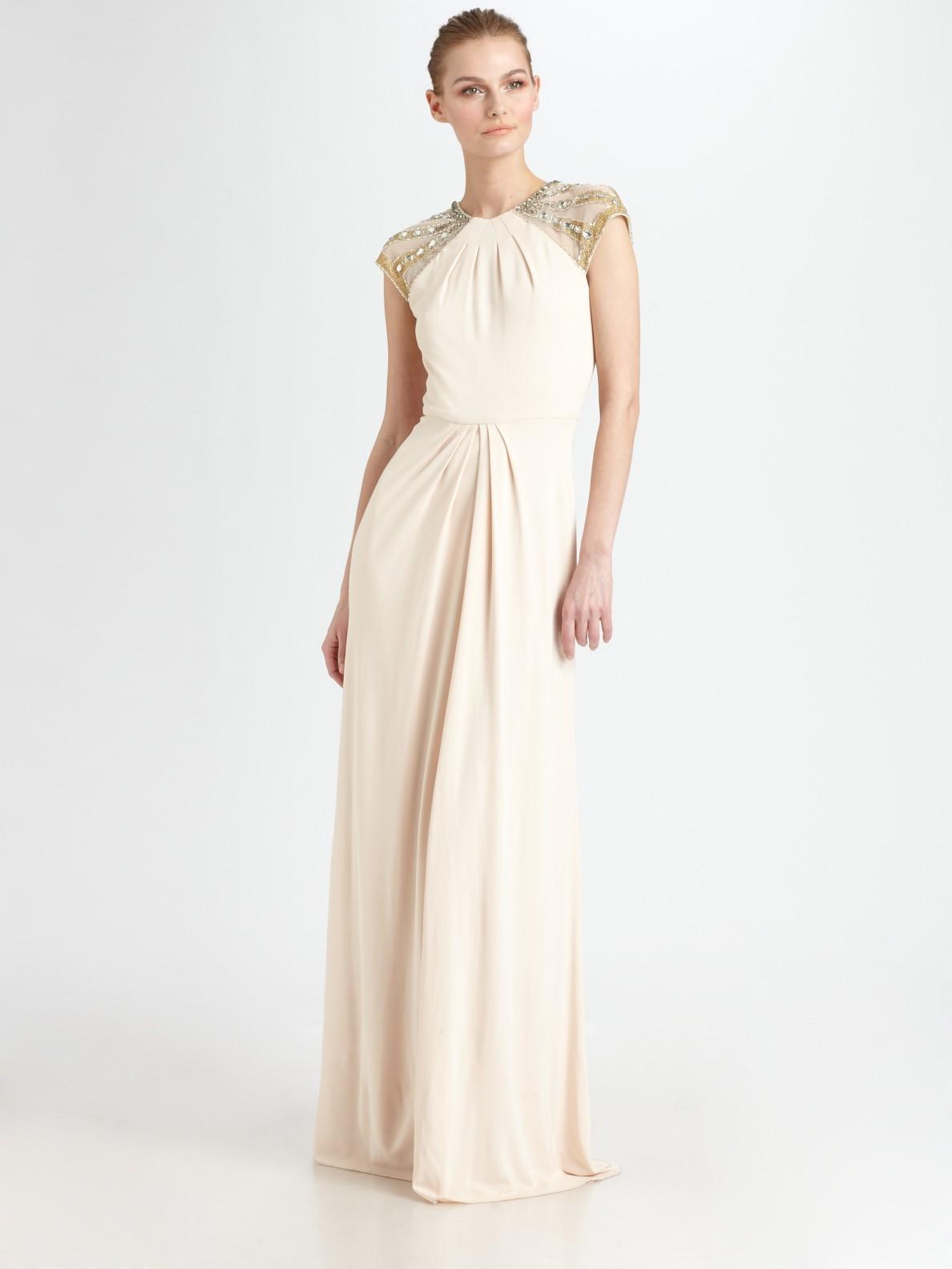 Beaded Cap Sleeve Dress