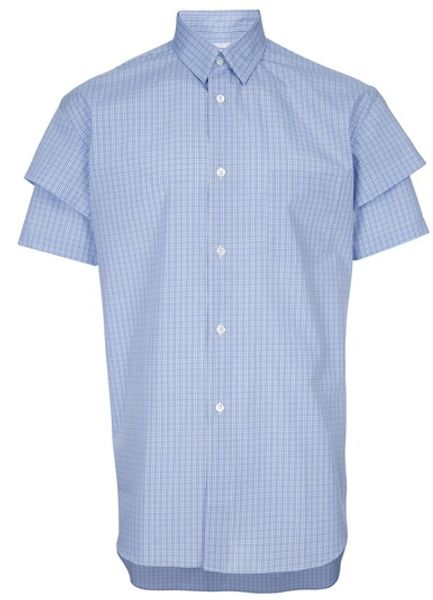 Comme Des Garçons Double Sleeve Shirt in Blue for Men - Lyst