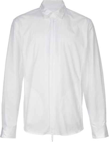 Giorgio Armani Concealed Fastening Shirt in White for Men - Lyst