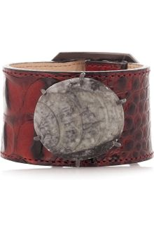 Kelly Wearstler Leather and Fossil Bracelet - Lyst