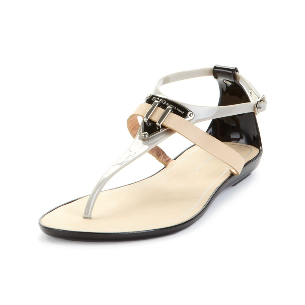 b0a17a00e430 Lyst - Bcbgeneration Calantha Flat Jelly Sandals in Gray