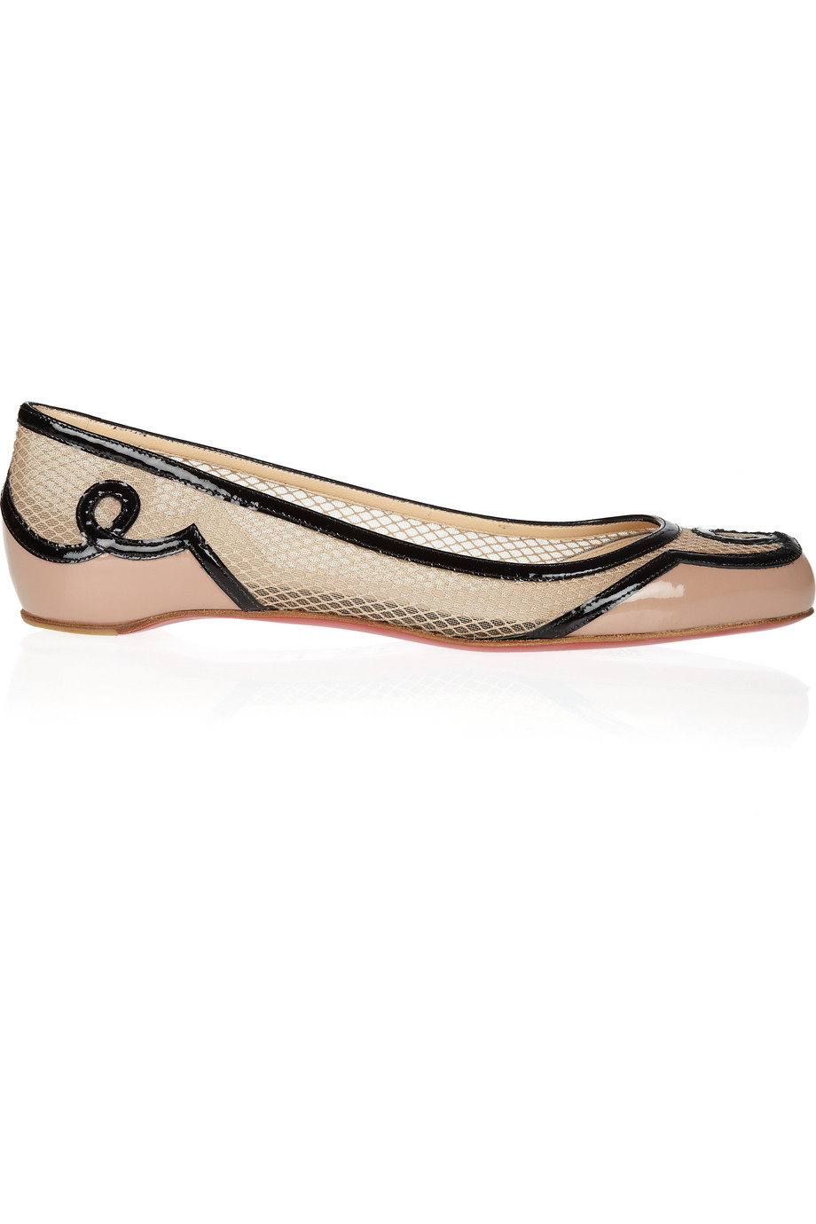 christian louboutin leather d'orsay flats