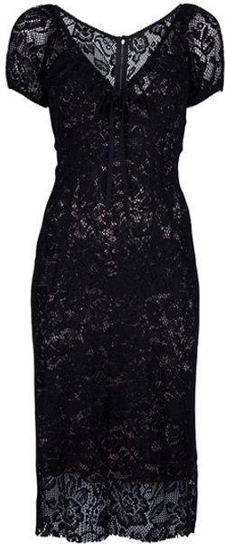 Dolce & Gabbana Crochet Dress in Black