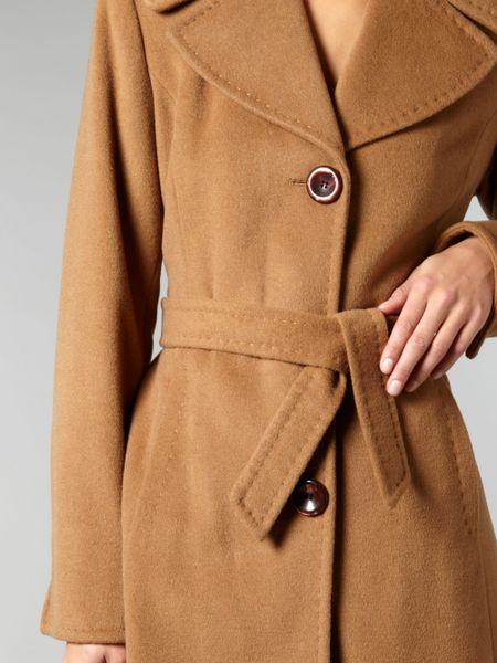 Ellen Tracy Wool Blend Belted Coat In Brown Camel Lyst