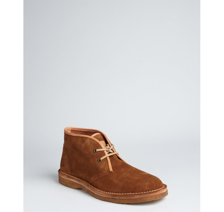 frye brown suede bailey chukka laceup boots in brown for