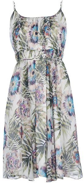 John Galliano Floral Print Dress - Lyst