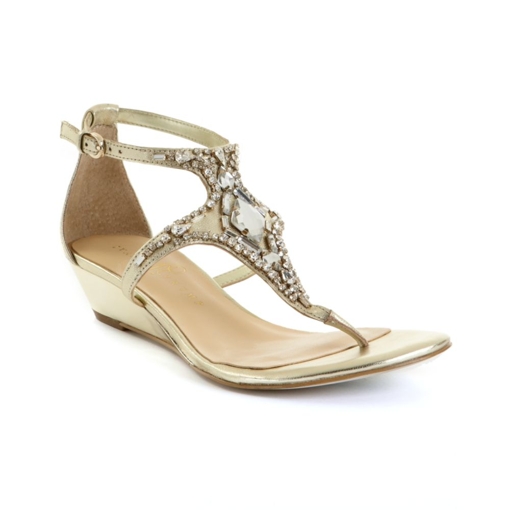 ivanka ayah demi wedge sandals in gold lyst