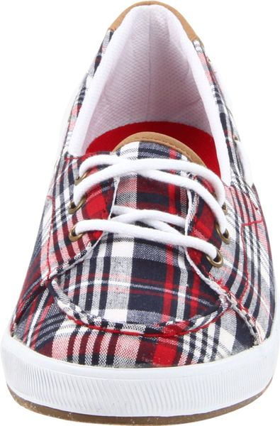 Keds Keds Womens Portside Boat Shoe in Brown (red plaid