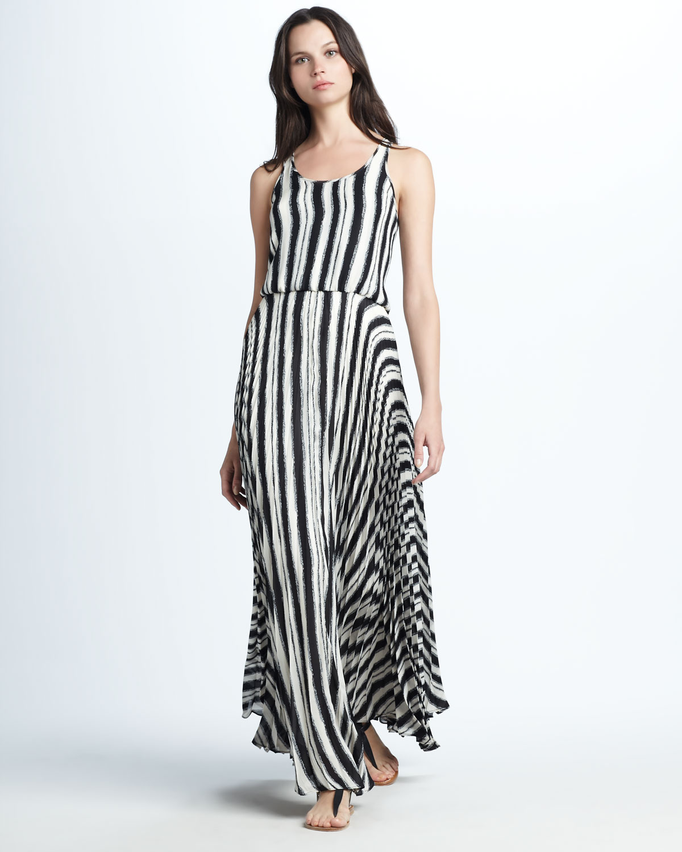 Parker Striped Maxi Dress in Black | Lyst