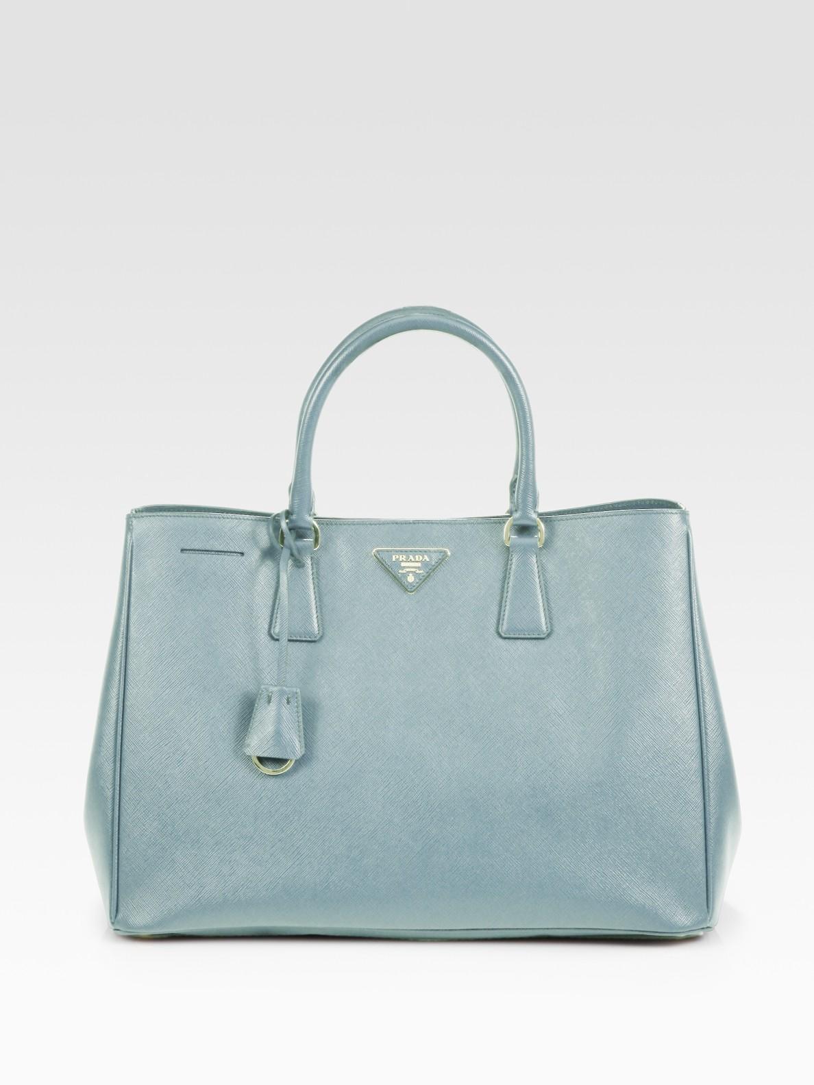 13757be4b10d ... czech lyst prada saffiano lux tote bag in blue f393a 7a68b ...