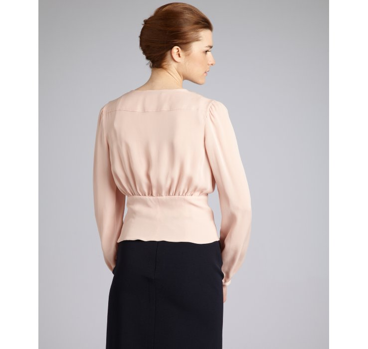 Prada Long Sleeve Silk Top Free Shipping Outlet Locations Visa Payment For Sale Cheap Sale Genuine Cheap Visa Payment 4k9O0nY