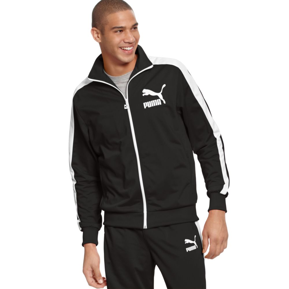 ed89cfd47087 Puma Heroes T7 Track Jacket in Black for Men