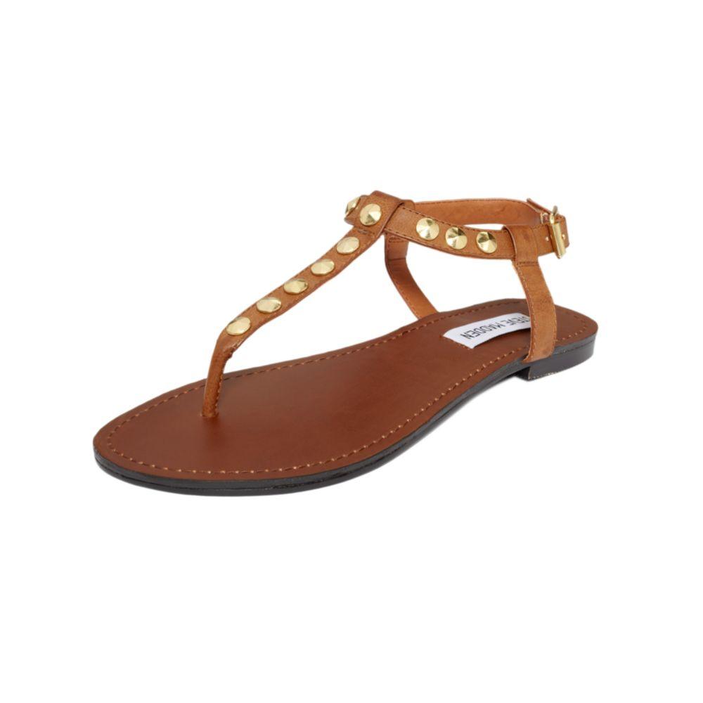 Lyst - Steve Madden Virrtue Flat Sandals in Brown