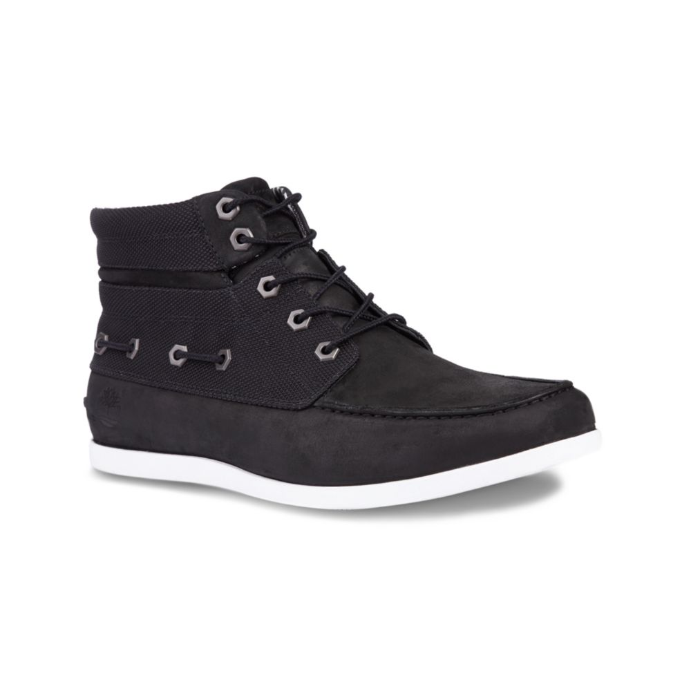 timberland new market chukka boots in black for black