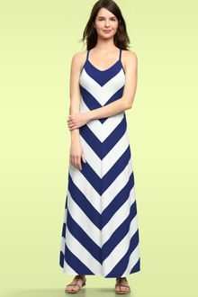 Black  White Striped Maxi Dress on Gap Chevron Stripe Maxi Dress In Green  Green   White Stripe    Lyst