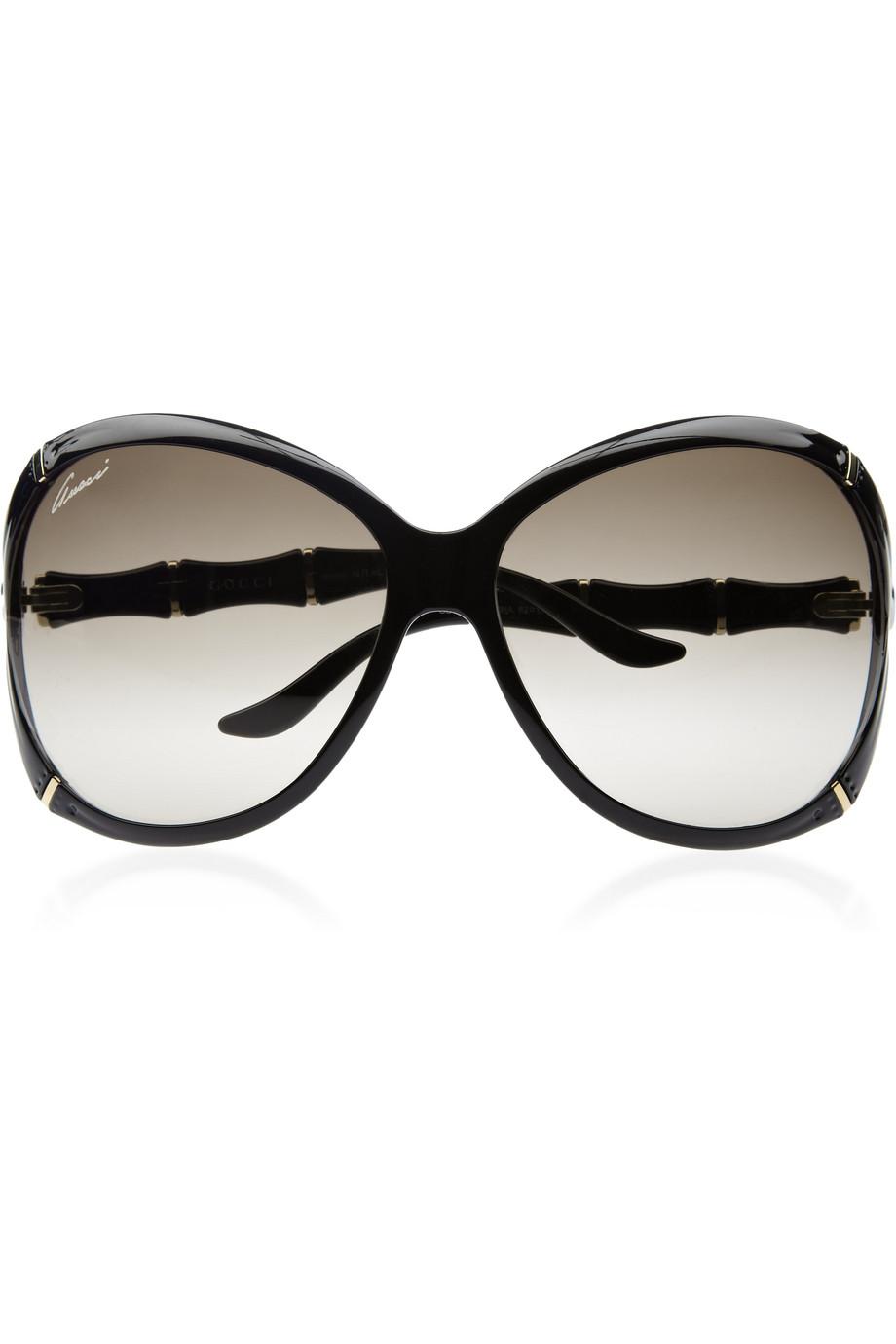 c9dcbf4067 Gucci Oversized Square Frame Acetate Sunglasses in Black