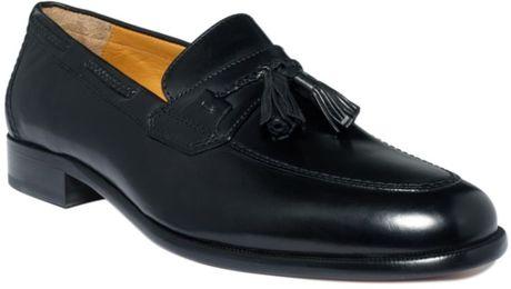 Johnston & Murphy Vauter Tassel Loafers in Black for Men