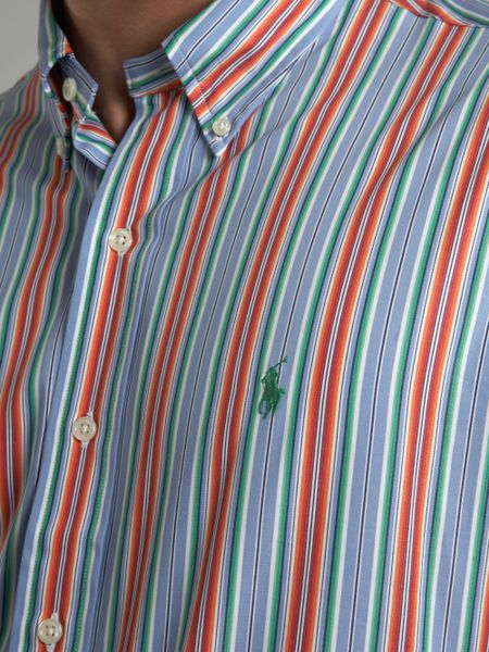 Orange Striped Long Sleeve Shirt Orange Striped Shirt in