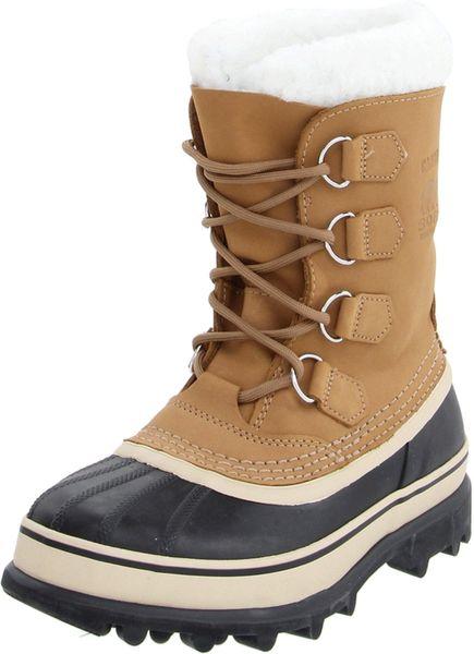 sorel sorel womens caribou boot in brown buff lyst