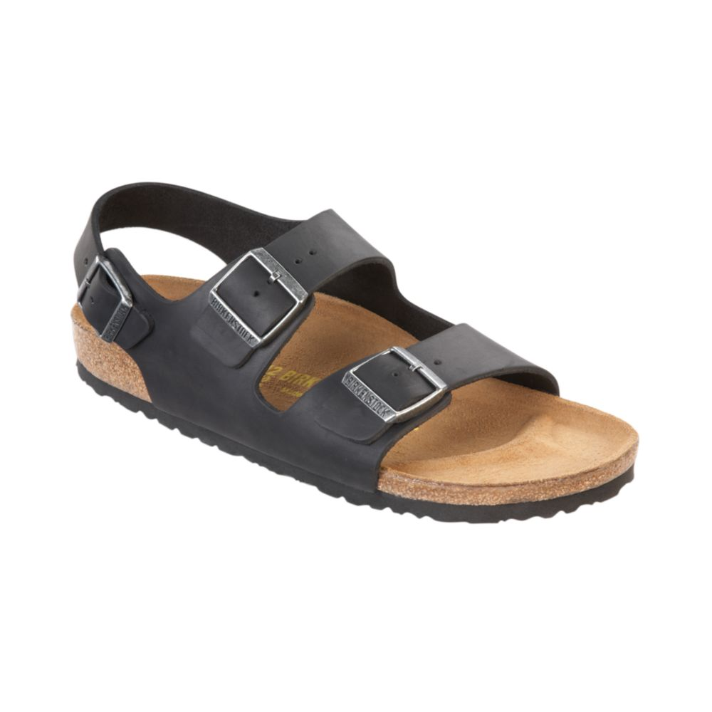 milano oiled leather birkenstock sandals