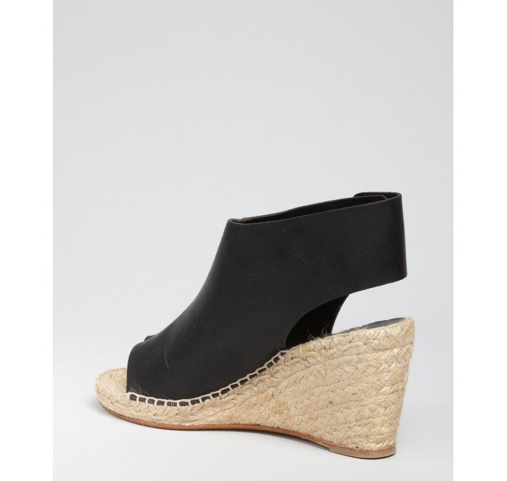 Céline Leather Wedge Espadrilles the cheapest for sale wuwik5