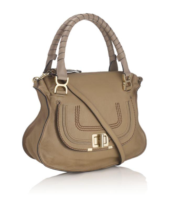 chloe handbags fake - Chlo�� Marcie Turnlock Shoulder Bag in Green (gold) | Lyst