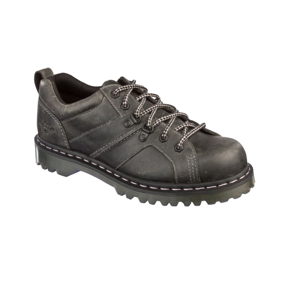 dr martens finnegan 6 tie shoes in black for lyst