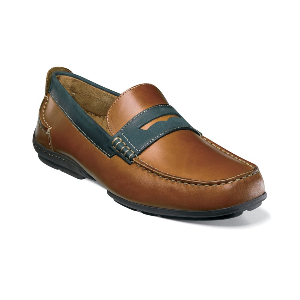 Florsheim University Penny Slip On Loafers in Brown for ...