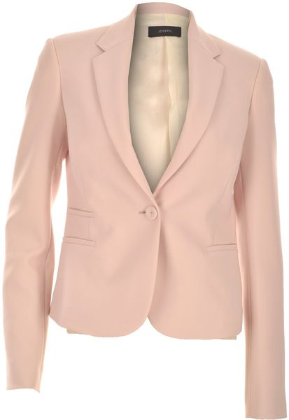 Joseph Jazz Crepe Jacket in Powder in Pink (powder) - Lyst