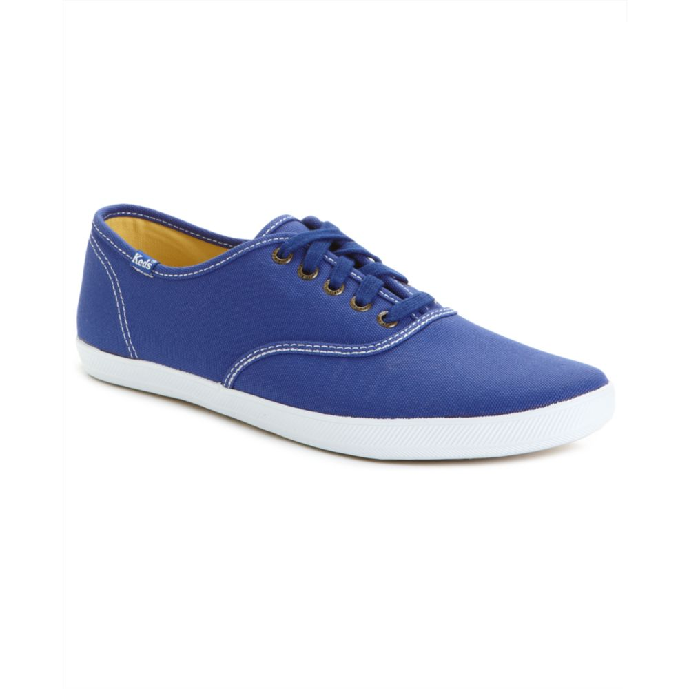 keds chion canvas original sneakers in blue for lyst