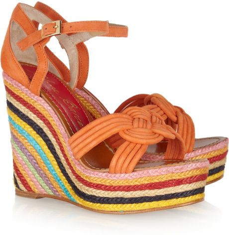 Paloma Barceló Mallorca Knotted Suede Espadrille Sandals in Multicolor (multicolored)