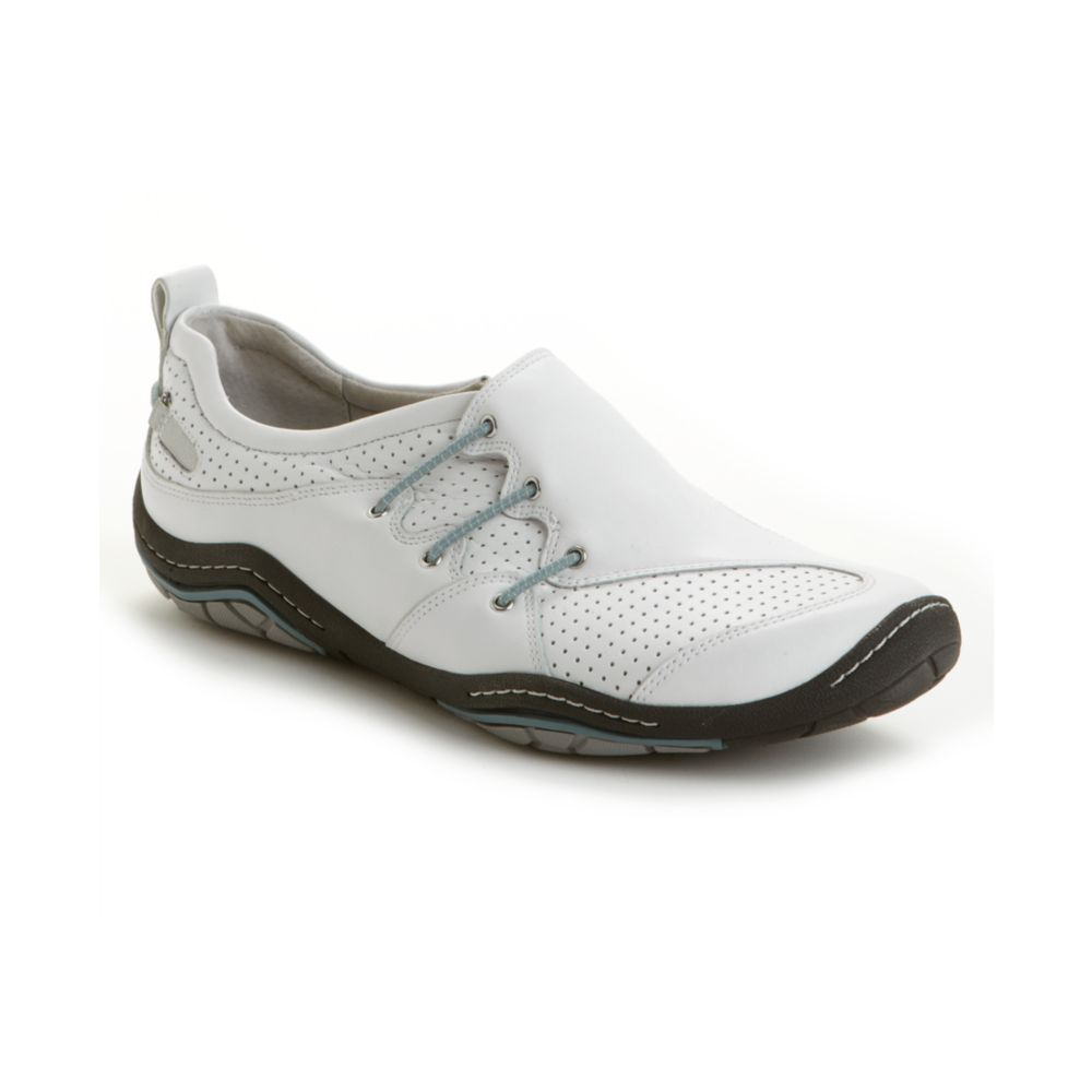 reef freeform slip on athletic shoes in white white blue