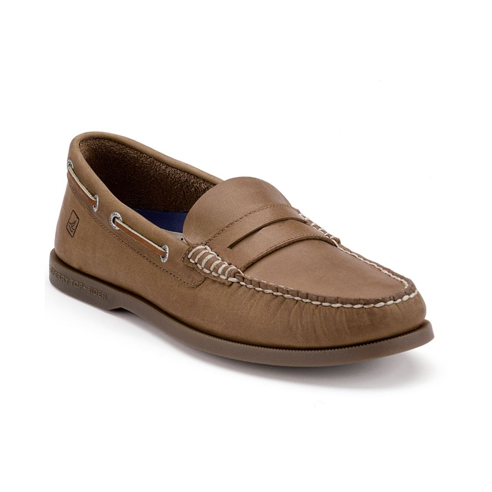8f074aa9eb6 Lyst - Sperry Top-Sider Authentic Original Penny Loafers in Natural ...