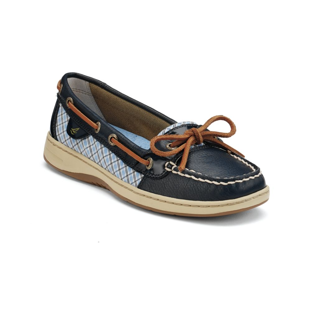 Womens Plaid Boat Shoes