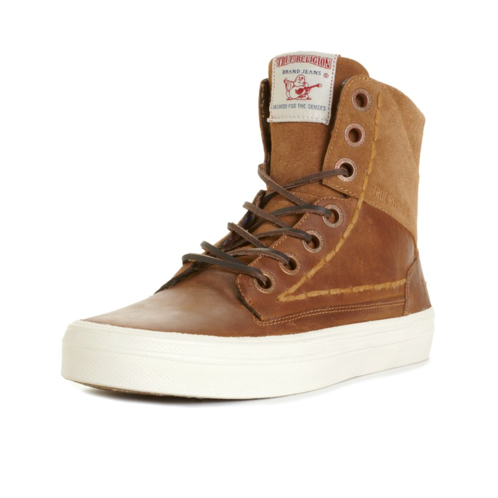 Lyst True Religion Camby Laceup Boots In Brown For Men