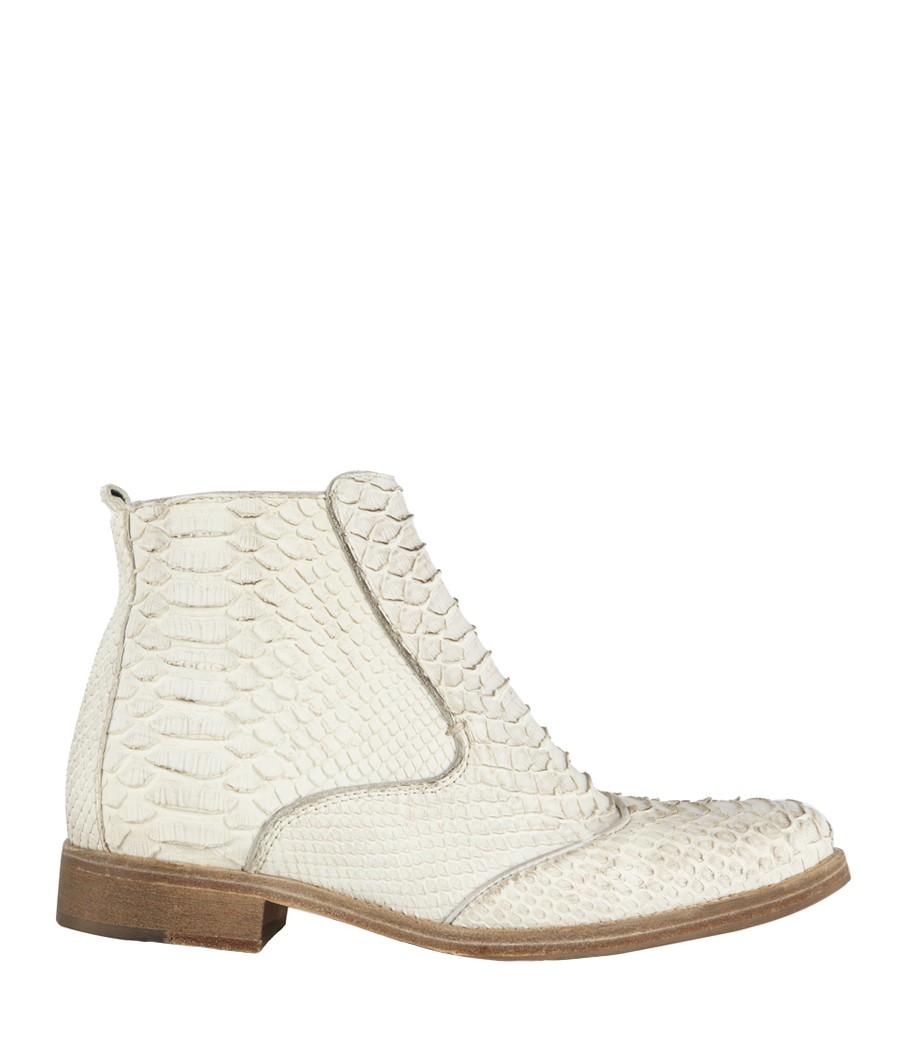 allsaints serpent chelsea boot in white lyst. Black Bedroom Furniture Sets. Home Design Ideas
