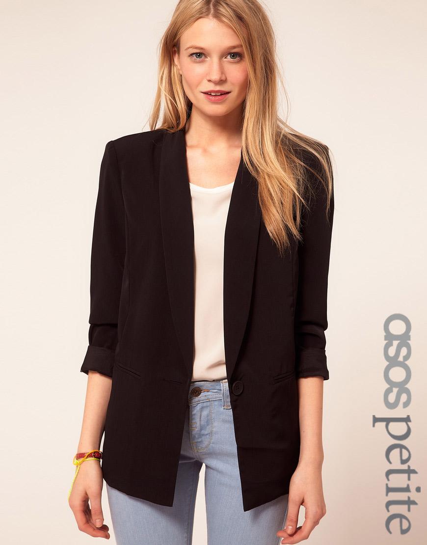Asos Asos Petite Exclusive Slouchy Boyfriend Blazer in Black | Lyst