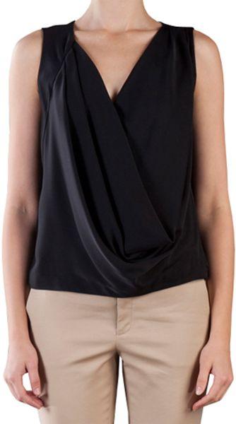Diane Von Furstenberg Rina Top in Black in Black