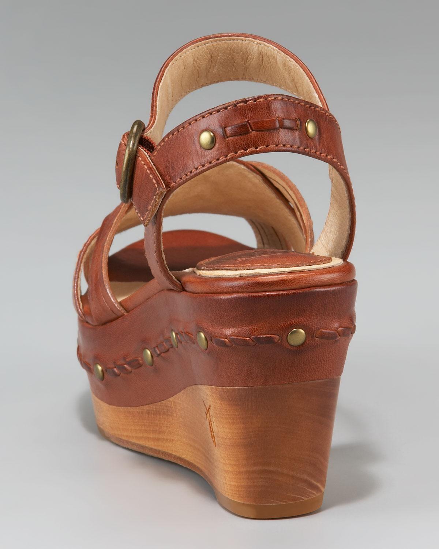 6994865c276 Lyst - Frye Carlie Wedge Sandal in Brown