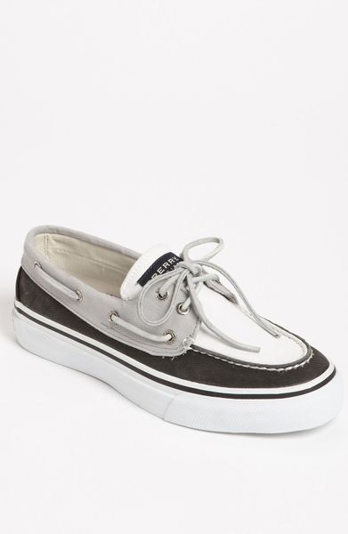 sperry top sider bahama boat shoe in white for black