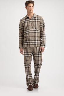 Burberry Check Pyjama Set - Lyst