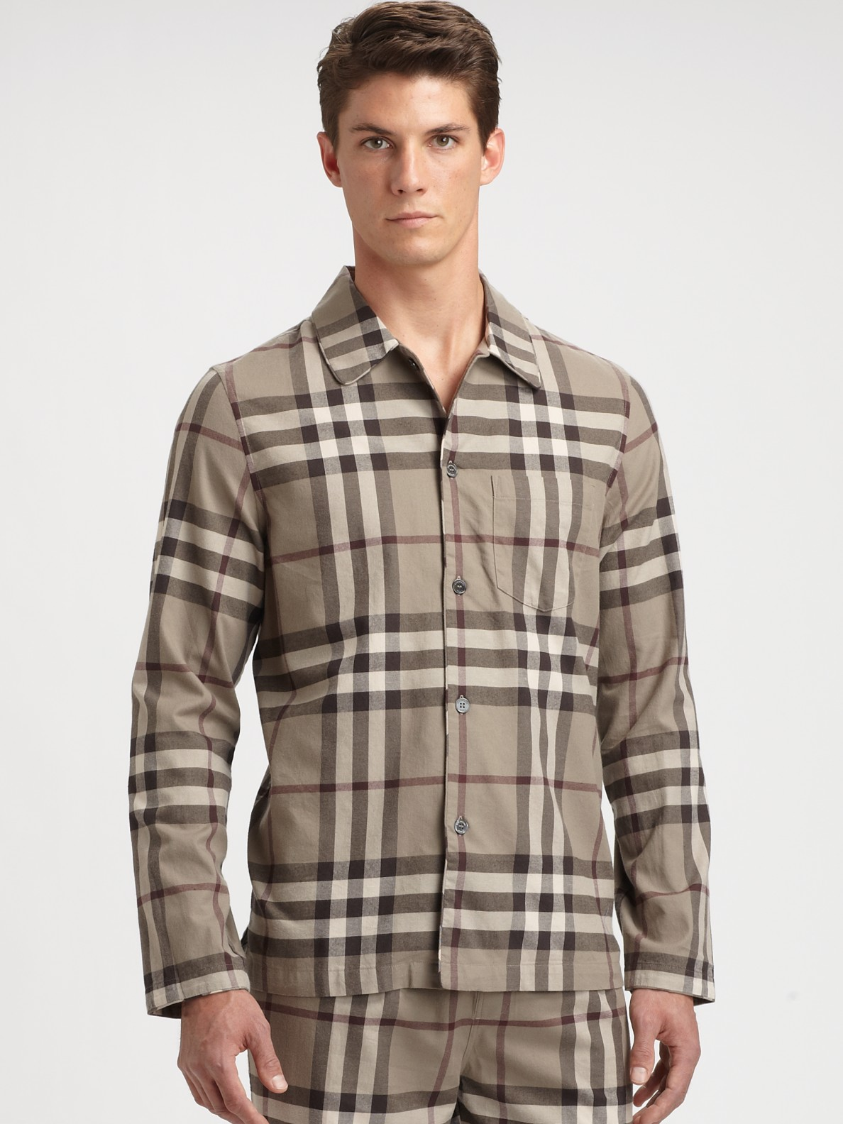 Lyst - Burberry Check Pajama Set in Brown for Men