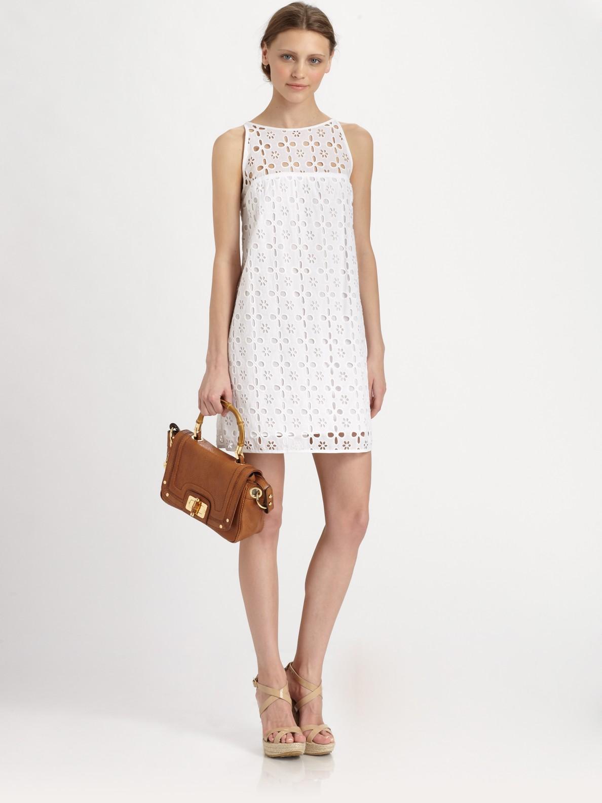 Beautiful White Eyelet Dress Womens  Best Dress Image