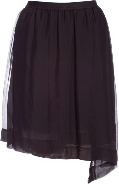 Rick Owens Skirt in Black - Lyst