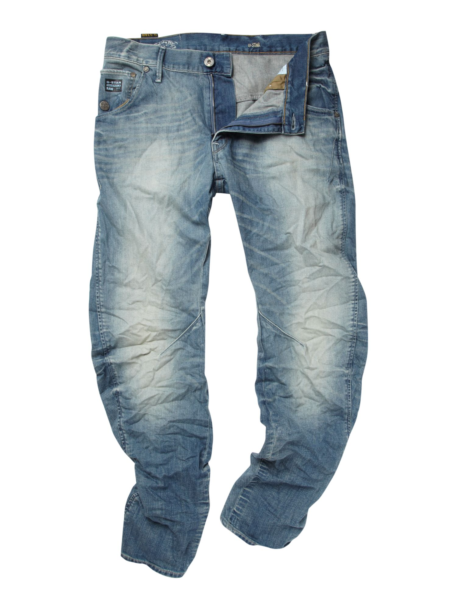 g star raw loose tapered arc jeans in blue for men lyst. Black Bedroom Furniture Sets. Home Design Ideas